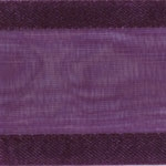 Ribbon #3 Delight Sheer Plum W/Satin Edge 25Y