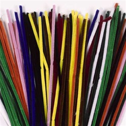 Chenille Stems 100 Pack (Pipe Cleaners)