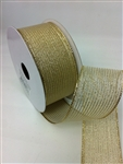 Ribbon #9 Sheer Stripe Expression Gold 10Yd