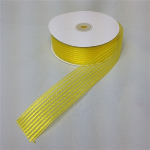 Ribbon #9 Sheer Stripe Chiffon Yellow 6363 50 Yd