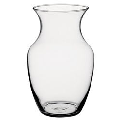 "Clear Glass Rose Vase 8"" (Case of 12)"