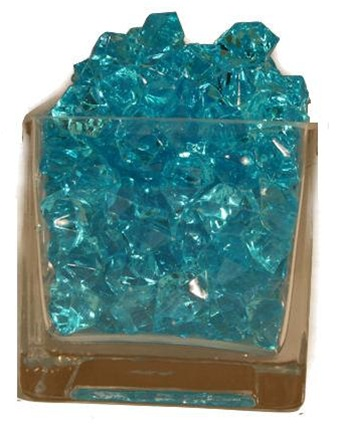 Baby Blue Acrylic Vase Filler 25cm