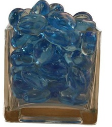 Bright Blue Acrylic Rocks 3.0cm