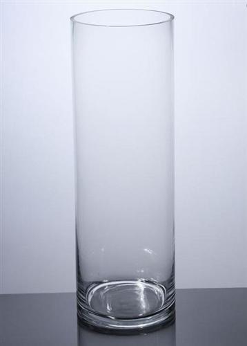 Cylinder Glass Vase 8x24