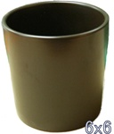 Ceramic Cylinder Vase 6x6 - Brown