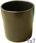 Ceramic Cylinder Vase 7x7 - Brown