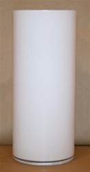 Cylinder Glass Vase 6x16 - WHITE