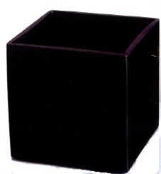 Black Cube Glass Vase 6x6x6