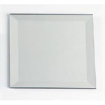 "Square Beveled Centerpiece Mirror (8"")"