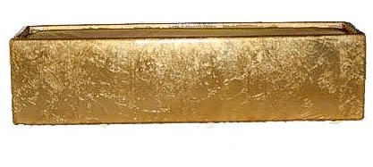 Metal Rectangle Vase 14x4x4 Gold