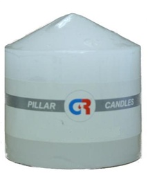 "Pillar Candle 3""x3""H - White"