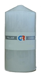 "Pillar Candle 3""x6""H - White"