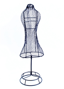 "Dress, Wire Form, 17"" tall"