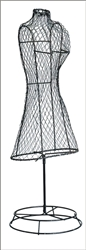 "Dress, Wire Form, 20"" tall, Black"