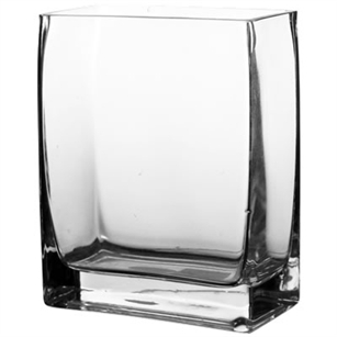 "Square Glass Vase 2.5x6x6""h"
