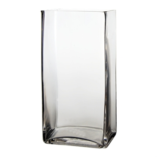 Square Glass vase 3x4x10