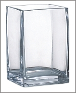 Square Glass Vase 3x4x6