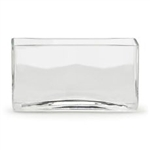 "Rectangle Glass Vase 4""x10""x6""h"