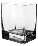 Square Glass Vase 4x6x6