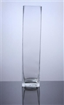 "Square Glass Block Vase 5x5x24""h"
