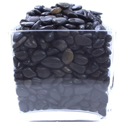 Black Polished Pebbles (10lb bag)