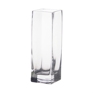 Square Glass vase 3x3x8