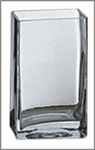 Square Glass Vase 4x4x8