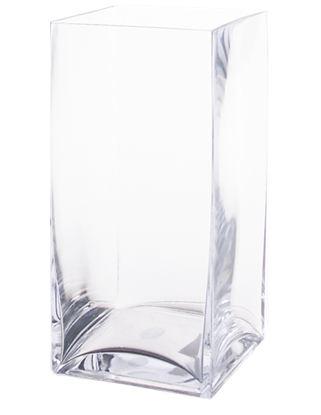Cube Glass Vase 6x6x12h