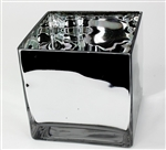 Cube Glass Vase 6x6x6, High Gloss, Mirror Finish