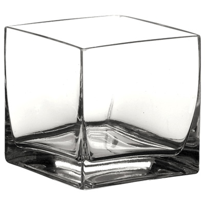 Cube Glass Vase 8x8x8