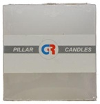 "Square Candle 3""x3""x3""H - White"