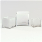 Cube Glass Vase 5x5x5 - White