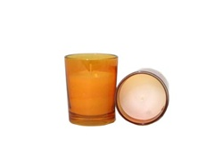 Votive with Candle - Amber (Case of 25)