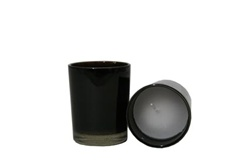 Votive with Candle - Black (Case of 25)