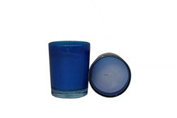Votive with Candle - Blue (Case of 25)