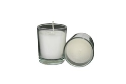 Votive with Candle - Clear (Case of 25)