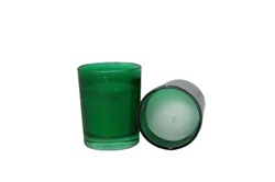 Votive with Candle - Green (Case of 25)