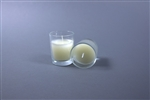 Votive with Ivory Candle - Clear (Case of 25)