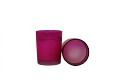 Votive with Candle - Pink (Case of 25)