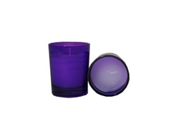 Votive with Candle - Purple (Case of 25)