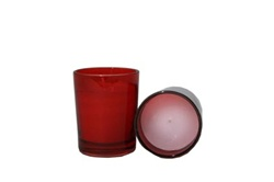 Votive with Candle - Red (Case of 25)