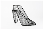 "High Heel, Wire Form, 9""L x 6.5""h, black"
