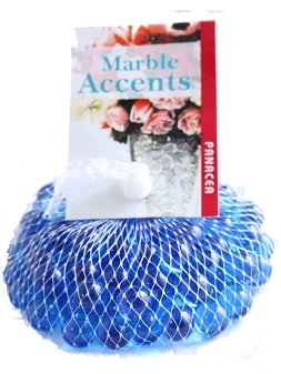 Round Glass Marbles Ice Blue Bag Of 75 Marbles
