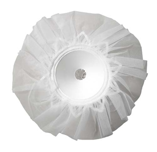 "8"" LOMEY® Bouquet Collar, White Tulle, 6 pack"