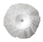 "9"" LOMEY® Bouquet Collar, White Tulle, 24/case"