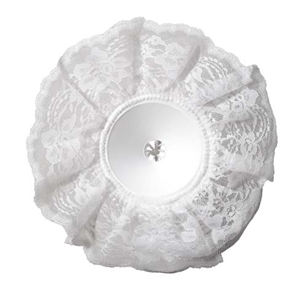 "10"" LOMEY® Bouquet Collar, White Lace, 6 pack"