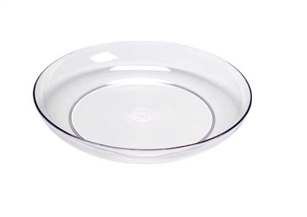 "15"" LOMEY® Designer Dish, Clear, 6 case"