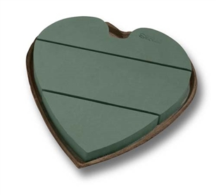 "12"" OASIS® Mache Solid Heart, 2 pack"