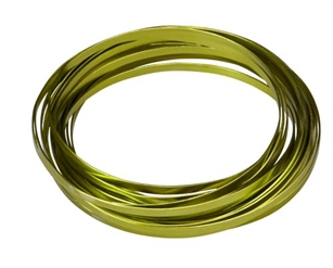 "3/16"" OASIS™ Flat Wire, Apple Green, 1 pack"