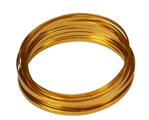 "3/16"" OASIS™ Flat Wire, Gold, 1 pack"